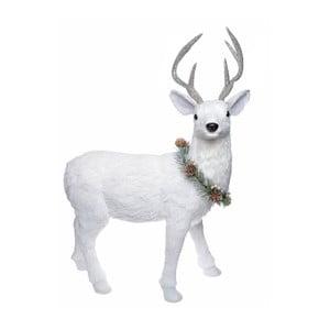 Biela dekorácia Ewax Ciervo, výška 60 cm
