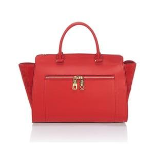 Kožená kabelka Krole Kristina, červená