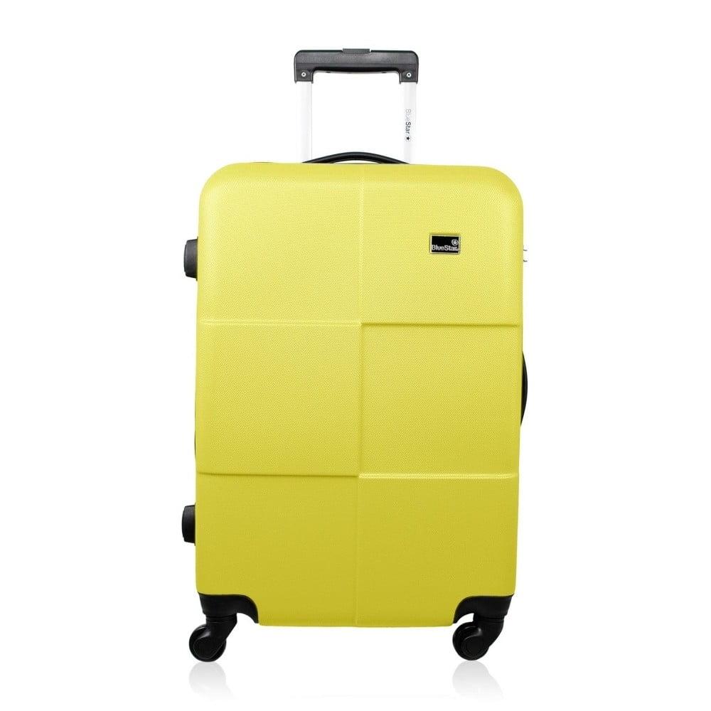 Žltý cestovný kufor na kolieskach Bluestar Amarillo, 64 l