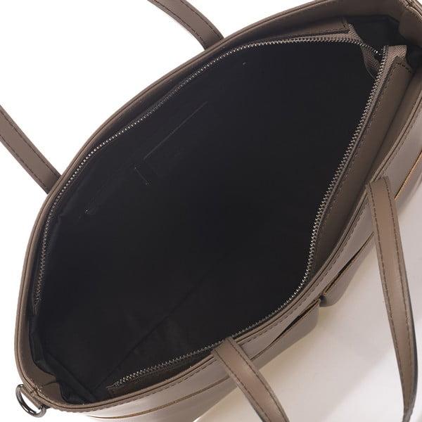 Béžová kožená kabelka Giulia Massari Jillian