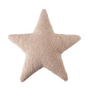 Púdrovoružový bavlnený ručne vyrobený vankúš Lorena Canals Star, 54 x 54 cm