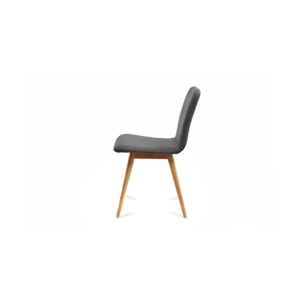 Sivá stolička z dubového dreva Gazzda Ena