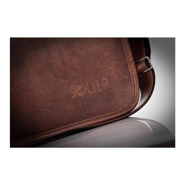 Pánska taška Solier S13, svetlohnedá