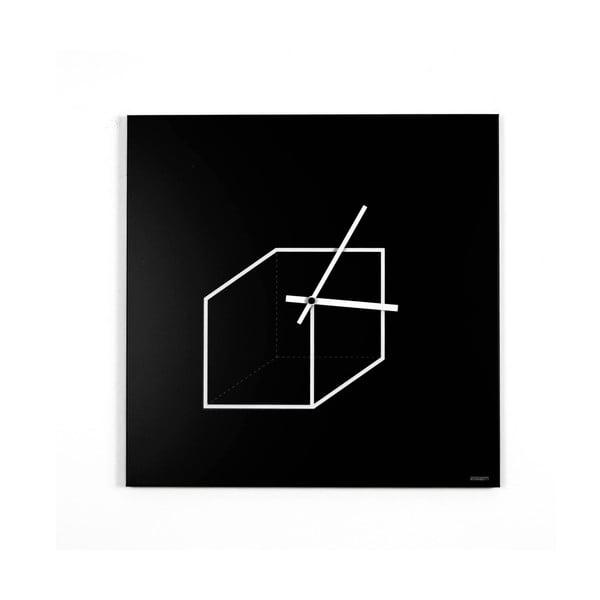 Nástenné hodiny dESIGNoBJECT.it Cube, 50 x 50 cm