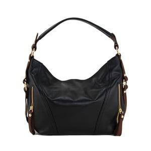 Kožená kabelka Alessia Nero/Marrone