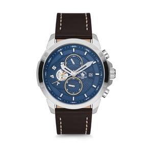 Pánske hodinky s koženým remienkom Santa Barbara Polo & Racquet Club Bombay
