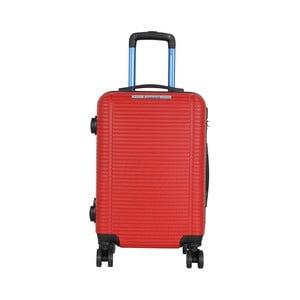 Červená príručná batožina na kolieskach Travel World