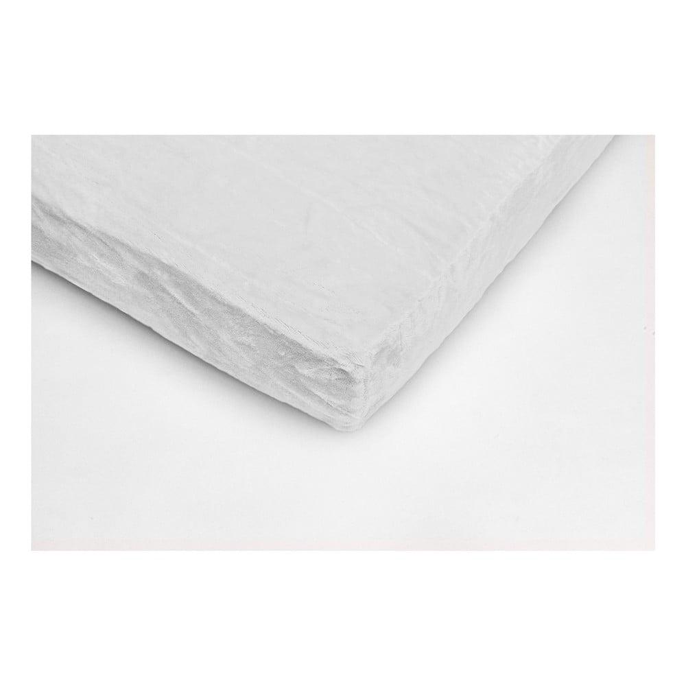 Biela mikroplyšová prikrývka na jednolôžko My House, 90 × 200 cm