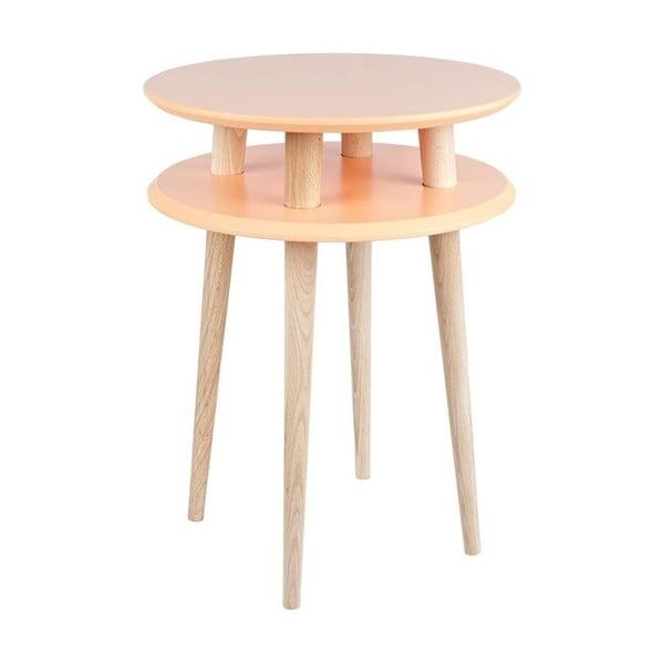 Odkladací stolík UFO 61x45 cm, oranžový