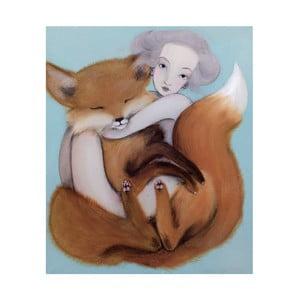 Autorský plagát od Lény Brauner Líška, 50,2 x 60 cm