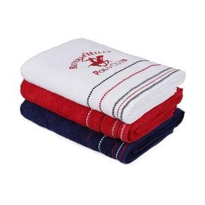 Sada 3 farebných uterákov z bavlny, 140 x 70 cm
