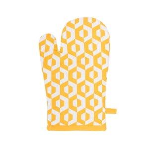 Žltá bavlnená chňapka Tiseco Home Studio He×agon
