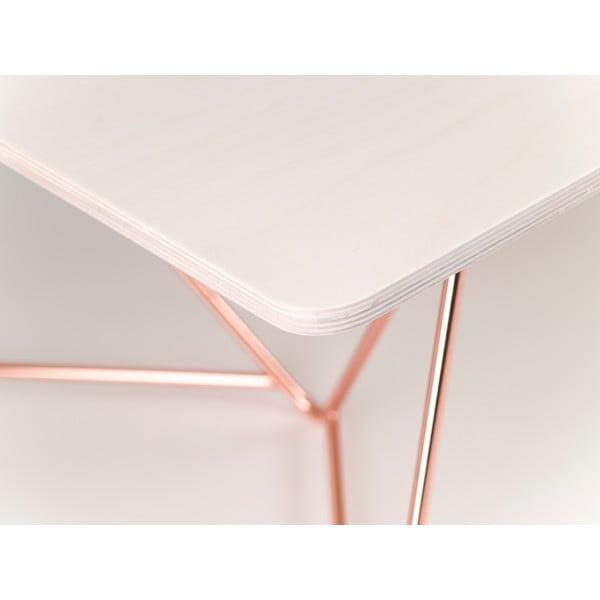 Doska konferenčného stola Flat Coffee - bielené drevo, 110x70cm