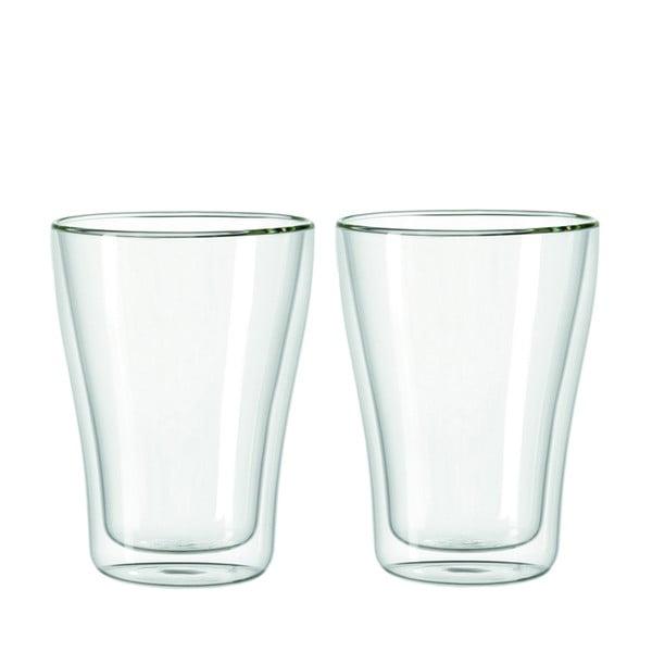 Sada 2 dvojstenných pohárov LEONARDO Duo, 345 ml