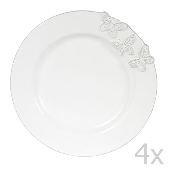 Set 4 dezertných tanierov Candice, 23 cm