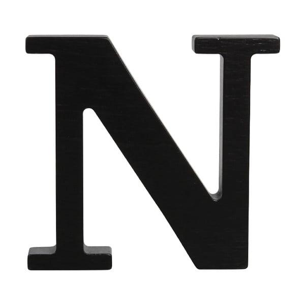 Čierne drevené písmeno Typoland N