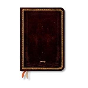 Diár na rok 2019 Paperblanks Black Moroccan Verso,12 x 17 cm