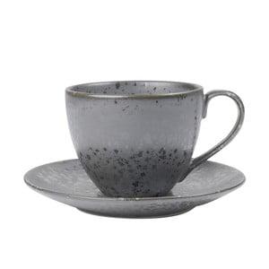 Sivá kameninová šálka s tanierikom Bitz Mensa