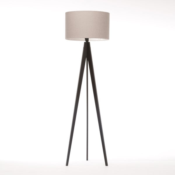 Stojacia lampa Artist Brown Grey Felt/Black Birch, 125x42 cm