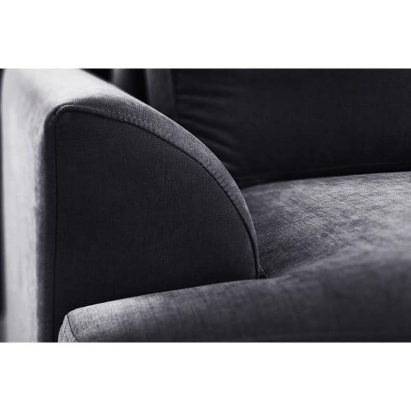 Trojdielna sedacia súprava Jalouse Maison Irina, čierna