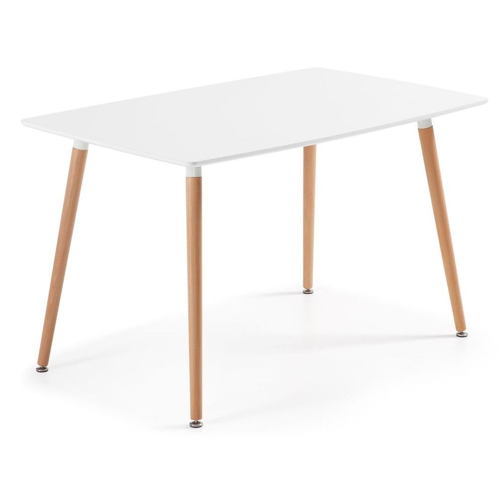 Jedálenský stôl z bukového dreva La Forma Daw, 80 × 140 cm