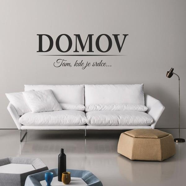 Samolepka na stenu DOMOV