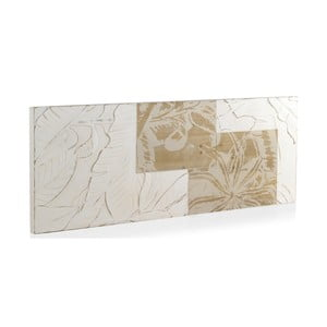 Biele drevené čelo postele Geese Natural, 165 x 60 cm