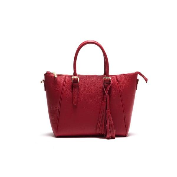 Kožená kabelka Anna Luchini 1169 Rosso