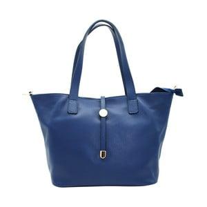 Námornícky modrá kabelka z pravej kože Andrea Cardone Matteo