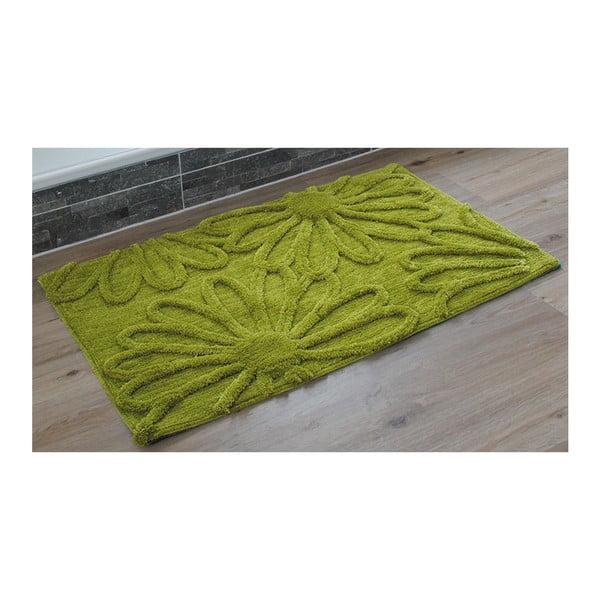 Kúpeľňová predložka Blume Green, 60x100 cm