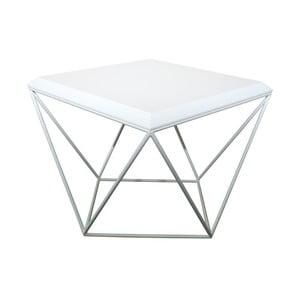 Biely konferenčný stolík Take Me HOME Tulip, 53×53cm