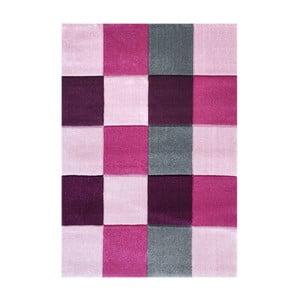 Ružový detský koberec Happy Rugs Patchwork, 120x180cm