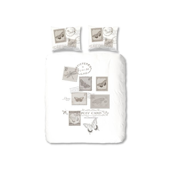 Obliečky Postage, 140 x 200 cm, sivé