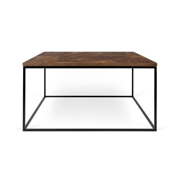 Hnedý konferenčný stolík s čiernymi nohami TemaHome Gleam, 75cm