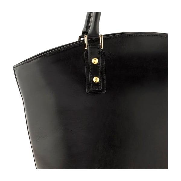 Kožená kabelka Ore Diece Sassuolo, čierna