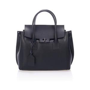 Čierna kožená kabelka Giorgio Costa Prema