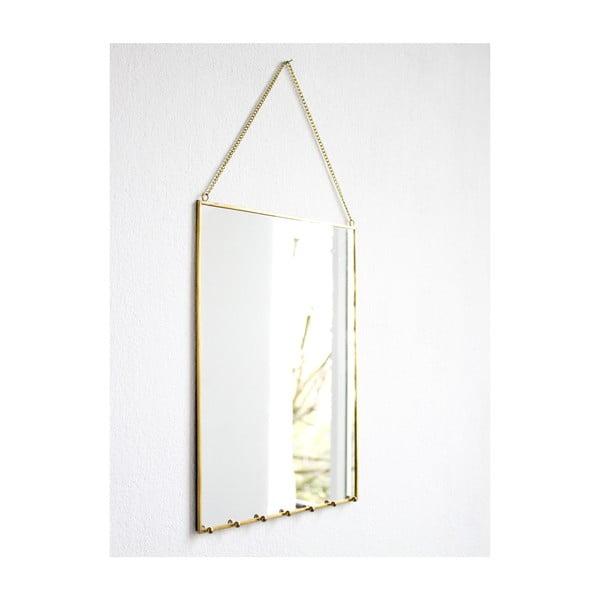 Zrcadlo s háčky Bijoux, 23x33 cm