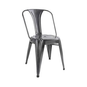 Stolička v siveej farbe Leitmotiv Dazzle