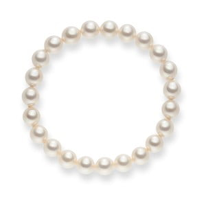 Biely perlový náramok Pearls of London Mystic, dĺžka 19 cm