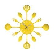 Nástenné hodiny Yellow Cutlery, 43 cm