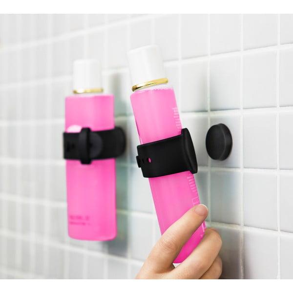 Čierny magnetický držiak na šampón či sprchový gél Reenbergs