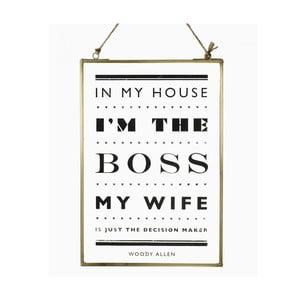 Závesná dekorácia The Boss