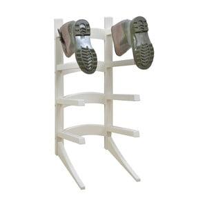 Biely stojan na 4 páry topánok z borovicového dreva Esschert Design Wellies