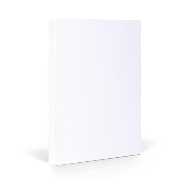 Zápisník FANTASTICPAPER A5 Snow/Silver, riadkovaný
