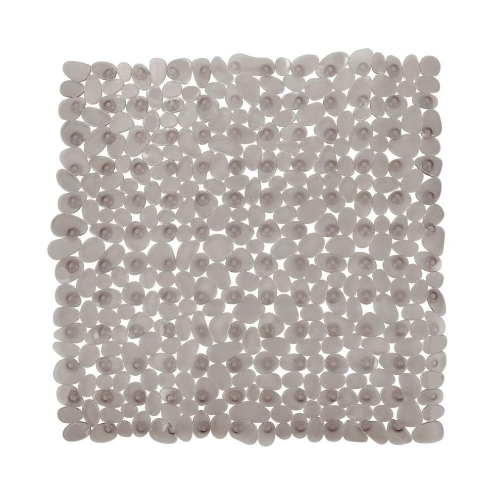 Sivobéžová protišmyková kúpeľňová podložka Wenko Drop, 54 × 54 cm