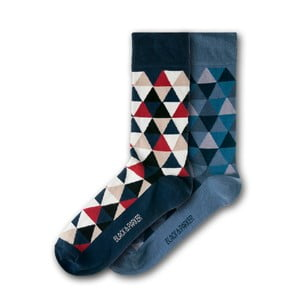 Sada 2 párov unisex ponožiek Black&Parker London Harris Garden, veľkosť 37 - 43