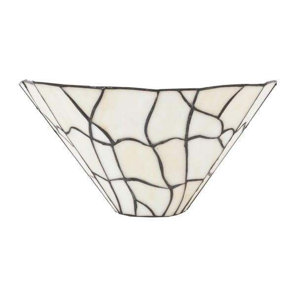 Tiffany nástěnné svetlo White Cracked