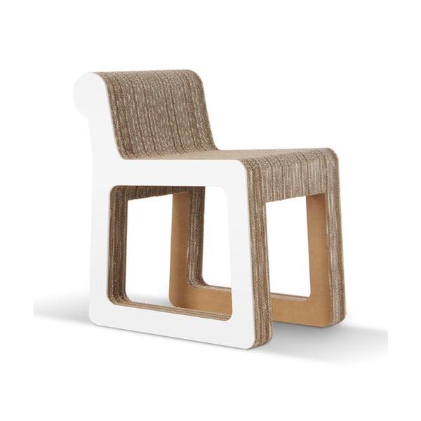 Kartónová stolička Knob White