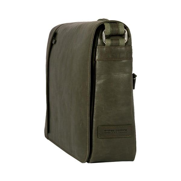 Pánska messenger taška Vintage Green Army