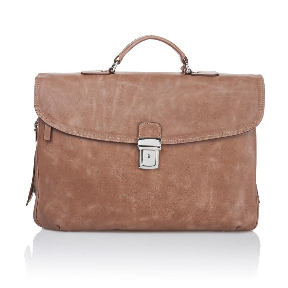 c356e6894 Koňakovo-hnedá pánska taška z teľacej kože Ferruccio Laconi Brief